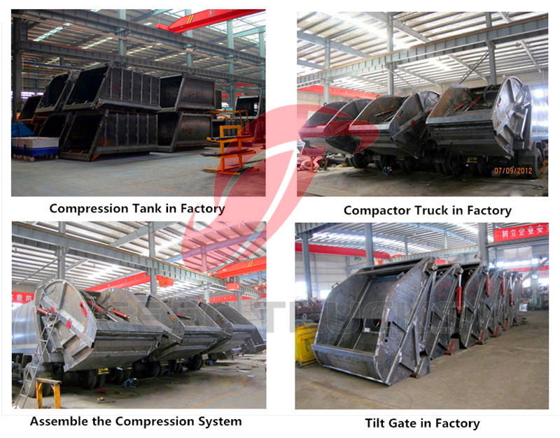 Garbage compactor truck workshop
