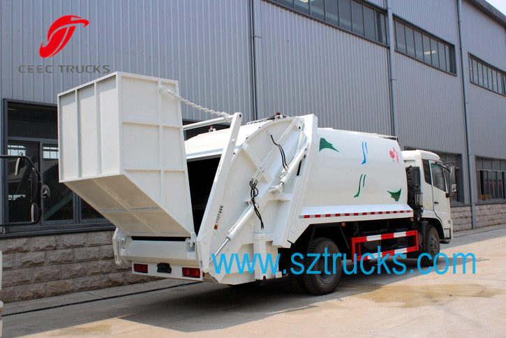 15CBM Garbage compactor truck with hopper