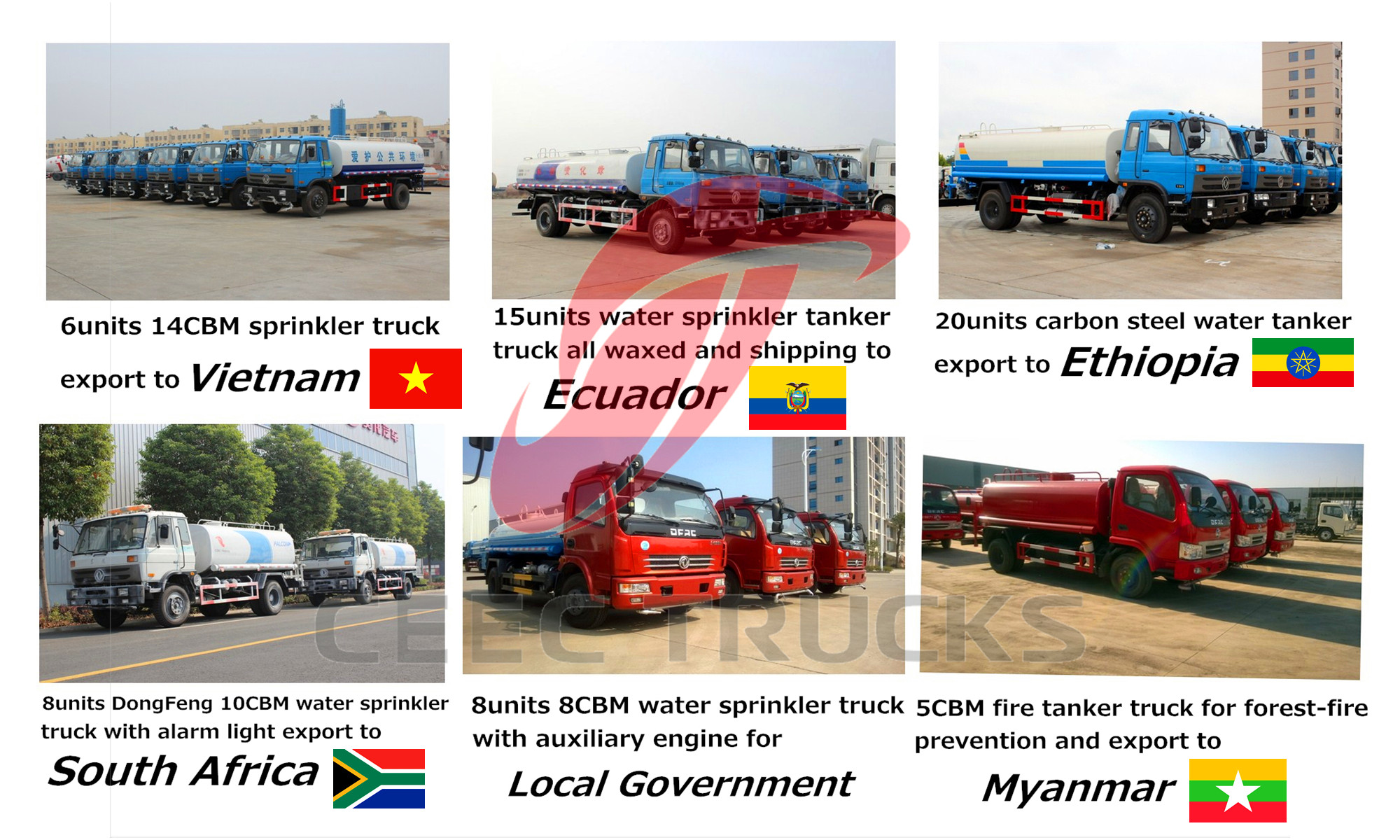 CEEC water tank truck previous export