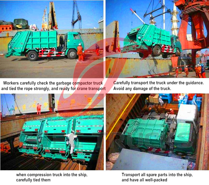 CEEC garbage compactor truck for shipment