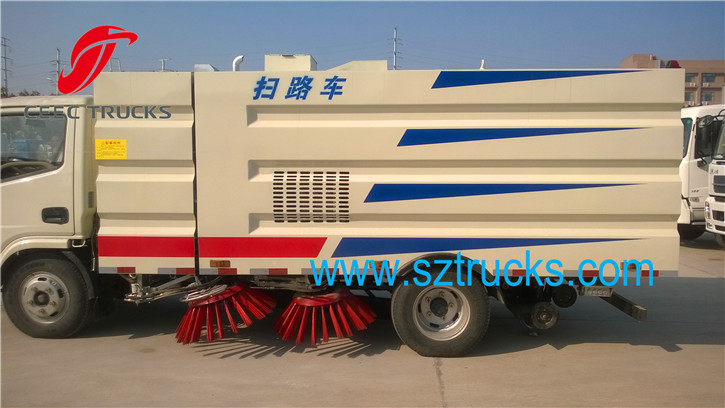 4CBM road sweeper truck