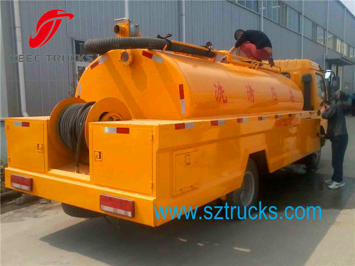 6CBM Combined sution jetting truck