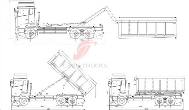 CEEC Roll on Roll off truck technical drawing
