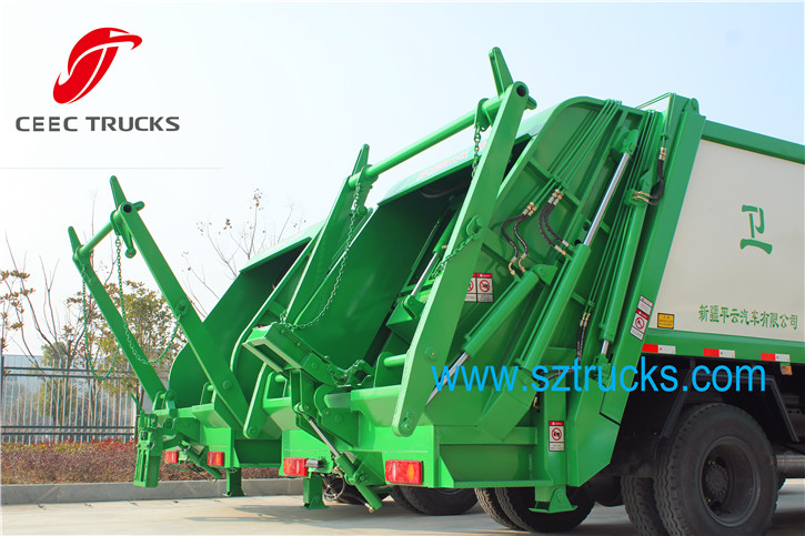 CEEC 12CBM Garbage compactor truck loading system