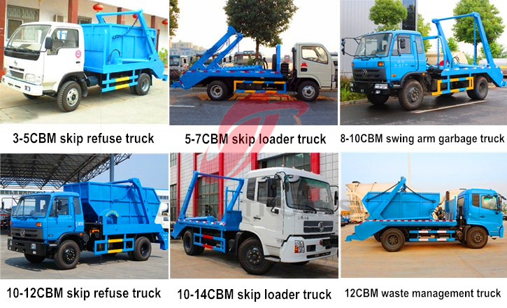 CEEC swing arm garbage truck