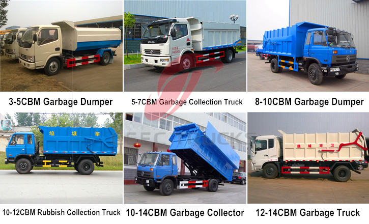 garbage collection trucks