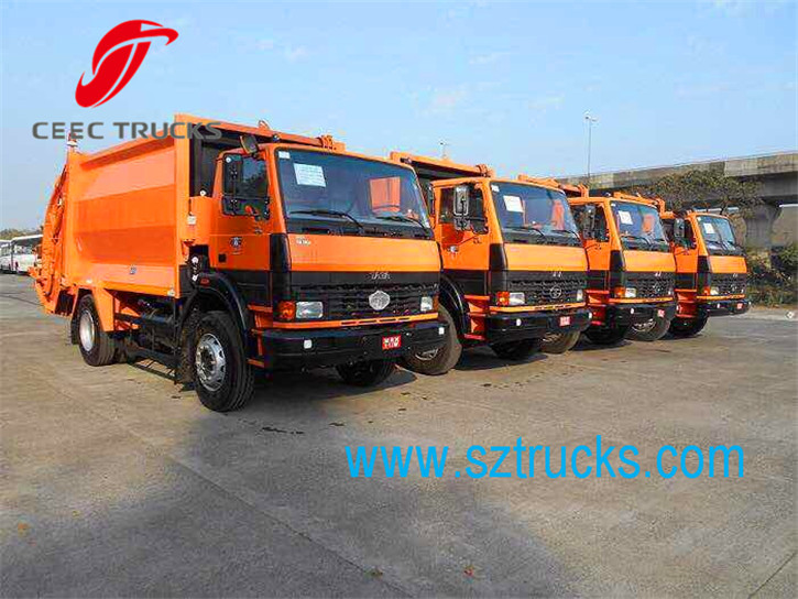 CEEC garbage compactor trucks for shipment