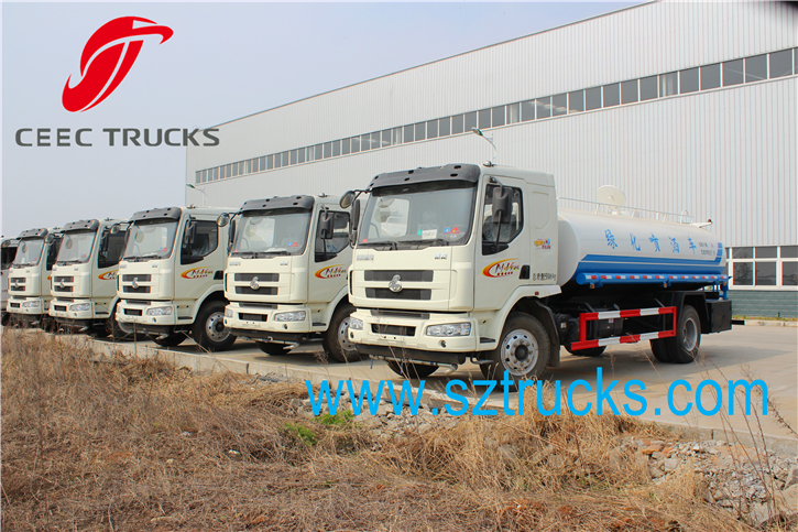 SHACMAN 9CBM Water Tanker Truck export to Tanzania