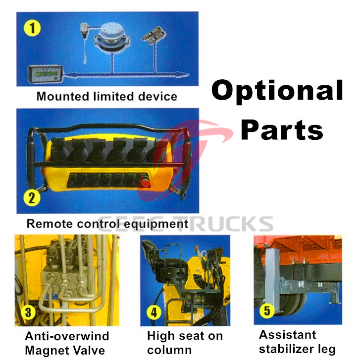 Truck Monted Crane Optional Parts