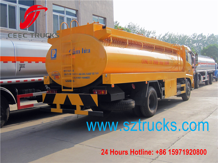engineering yellow color water tanker truck