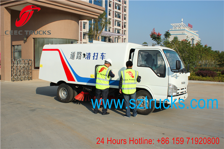 Good quality! 4x2 Japanese brand ISUZU road sweeper truck