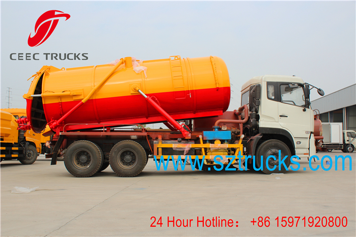 high performance 6x4 sewage suction truck