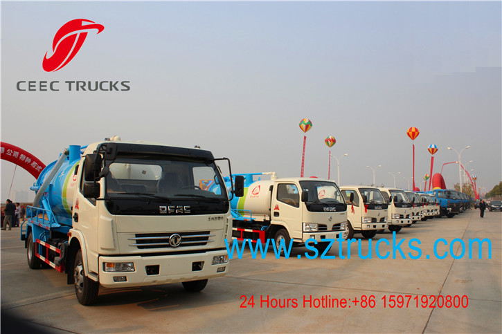 Best vacuum sewage suction trucks hot sale with low price