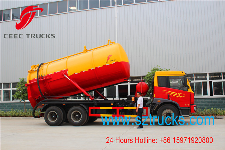 Best FAW vacuum sewage suction truck