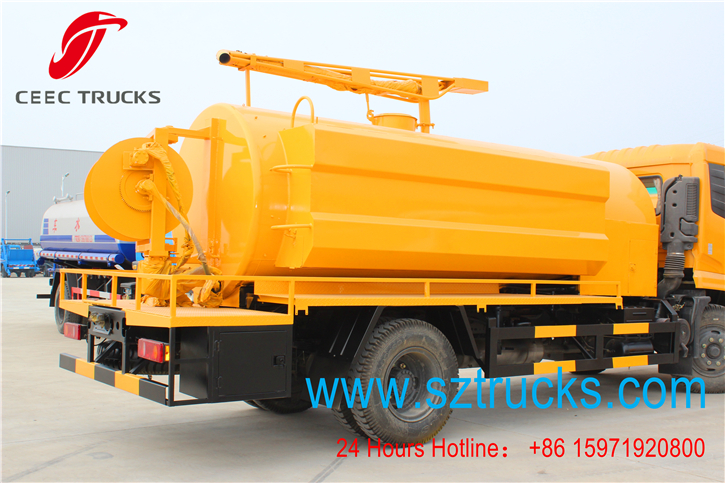 multi-functional high pressure jetting fecal suction truck