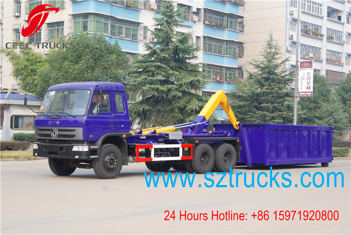 heavy-duty roll on roll off garbage trucks working vedio