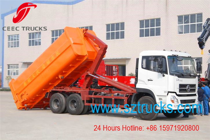 18CBM hook lift garbage trucks working vedio