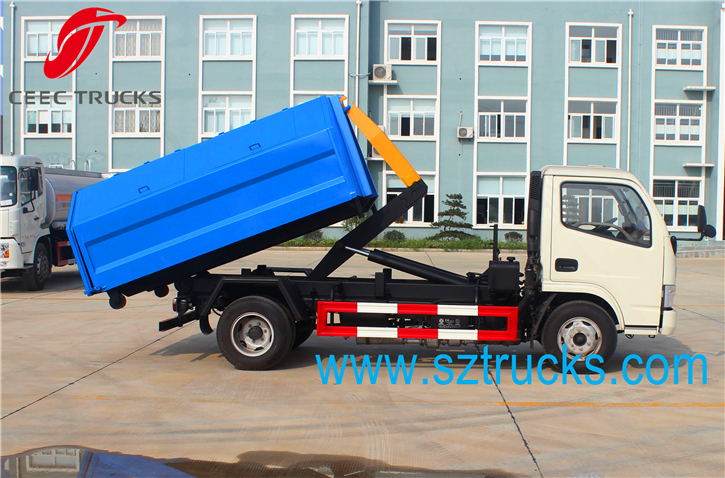 Mini 4-6CBM roll on roll off garbage truck