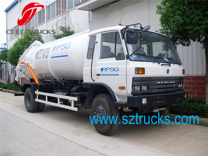 high quality DFAC 9cbm vacuum sewage suction truck