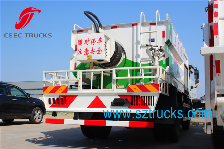 7CBM high pressure jetting truck for city sanitation