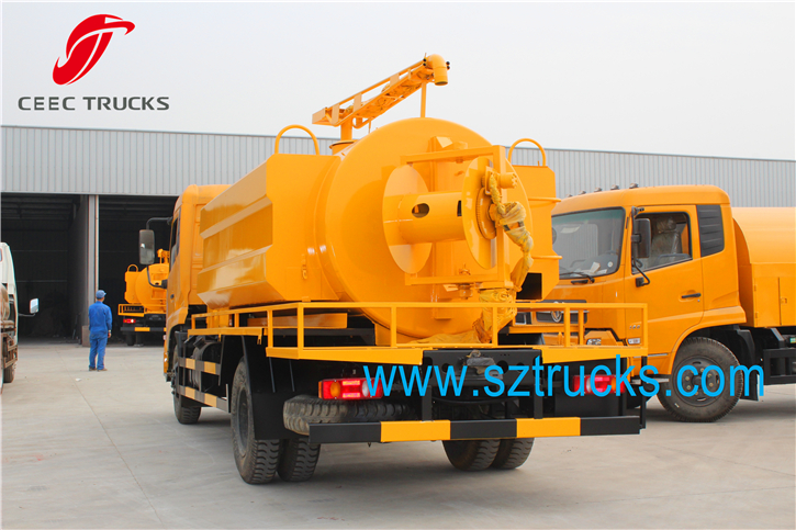 Best multifunctional high pressure jetting & fecal suction truck