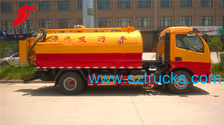high pressure jetting vacuum suction truck