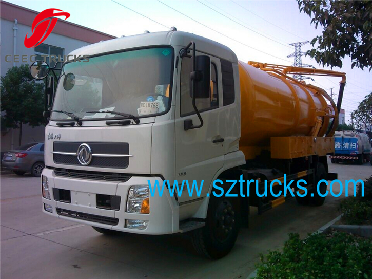 DFAC vacuum sewage suction truck with fecal suction pipe line