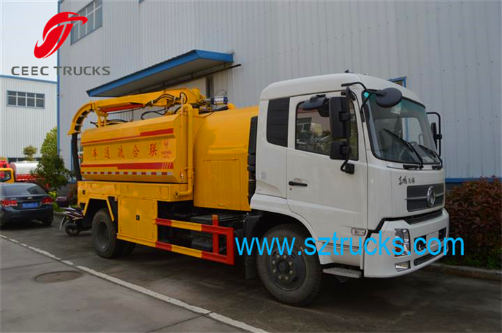 DFAC tianjin best combined jetting suction truck