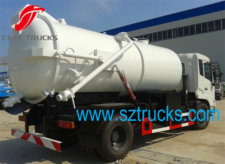 Best combined jetting vacuum suction tanker truck with high performance hot sale