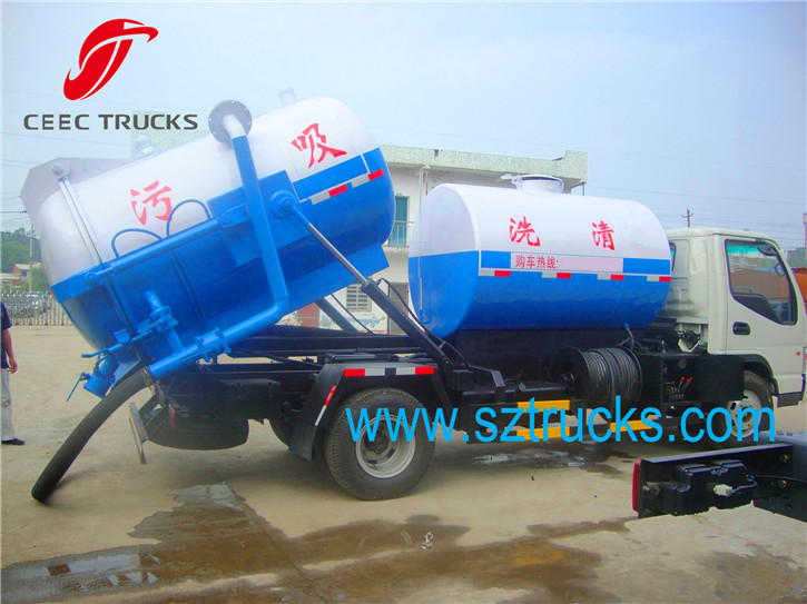 Good Quality Mini multifunctional combined sewage suction jetting truck
