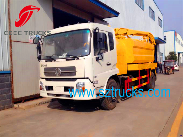 Factory price combined vacuum suction jetting truck for sale