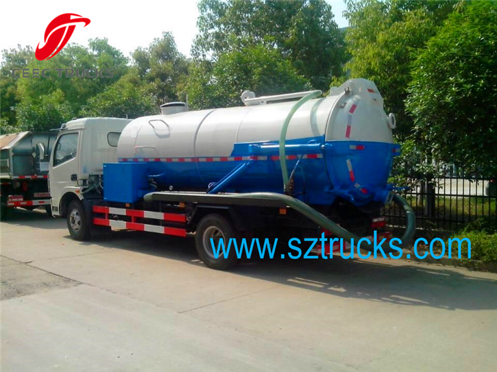 Combined sewer truck and High Pressure Pipeline Flushing Truck