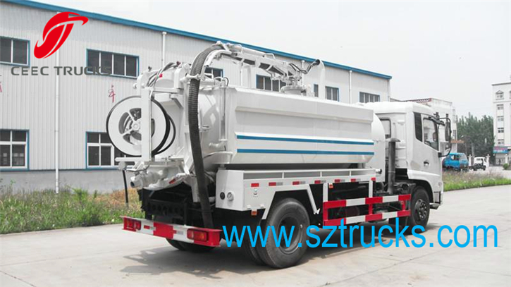 DFAC Best combined vacuum suction jetting truck