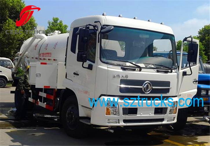 Used DFAC combined sewage suction jetting truck