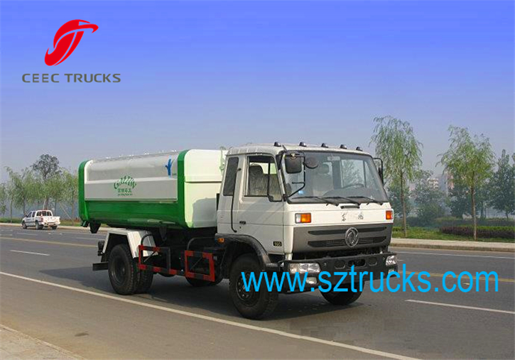 DongFeng heavy-duty 8CBM hook lift garbage trucks for city sanitation