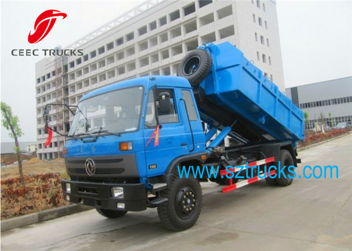 Hot sale DongFeng hook lift truck with 10CBM capacity