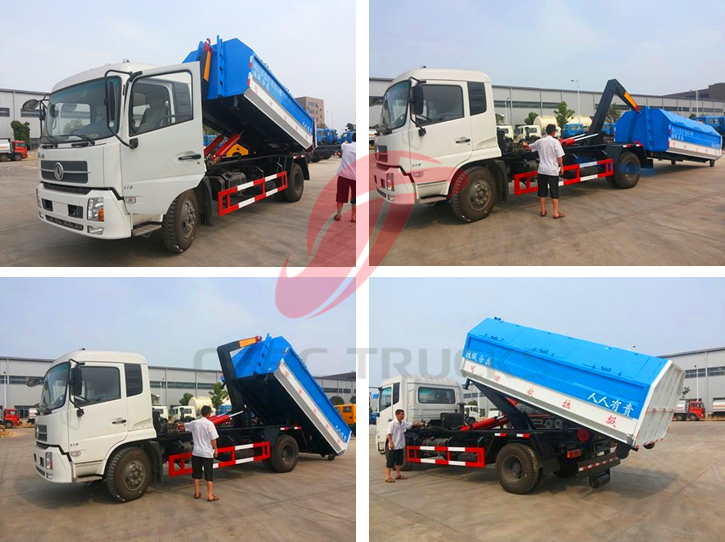 Hot sale DongFeng hook lift truck with capacity 8000Liters