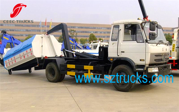 TOP Quality DongFeng hook lift garbage trucks