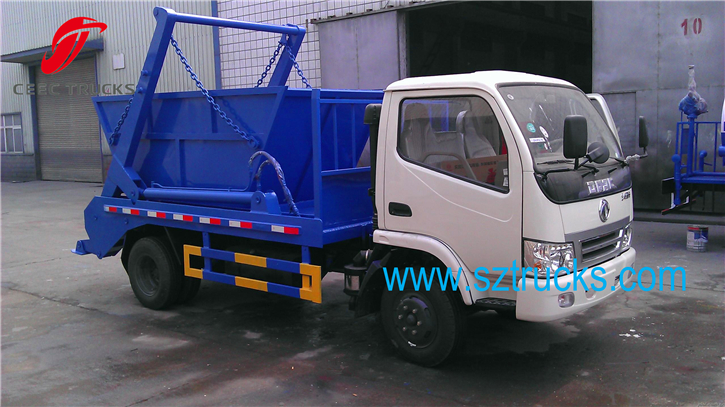 DFAC 4CBM mini garbage bin lifting trucks with different type bins for sale