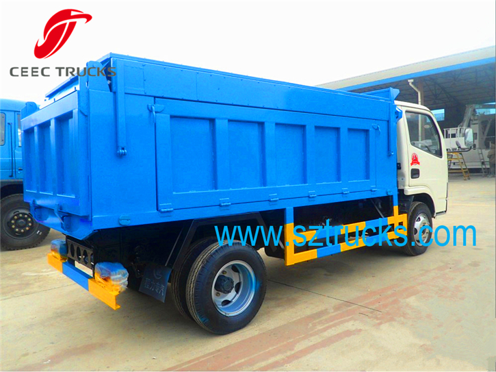 4CBM garbage dumper sealed refuse management vehicles for sale