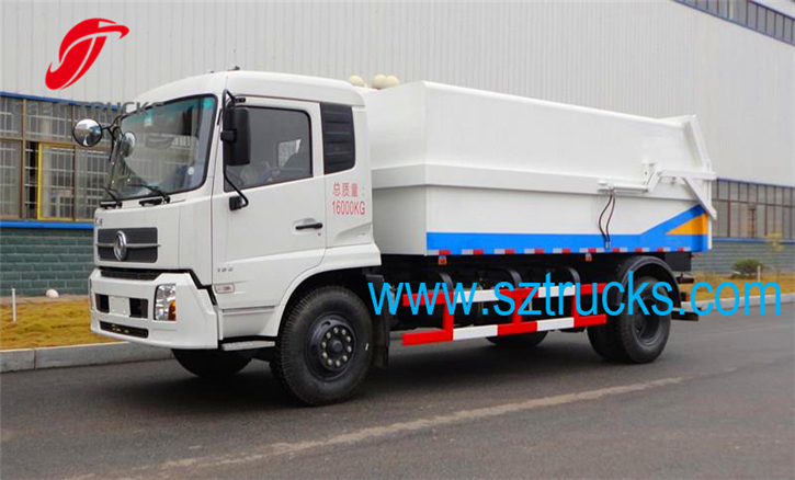 12CBM DongFeng heavy-duty docking garbage trucks for sale