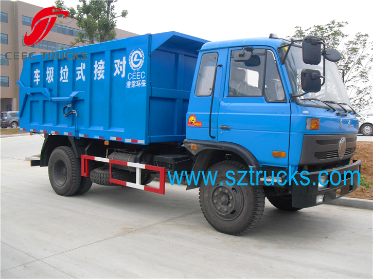 8CBM DFAC docking garbage trucks service for rubbish station
