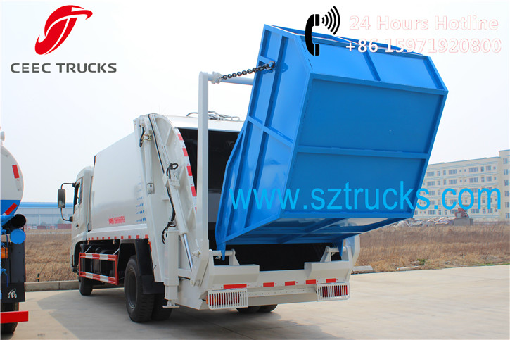 Advanced Features for CEEC 12CBM garbage compression trucks with rear loading system: