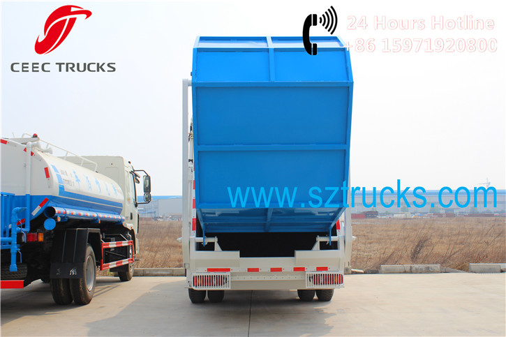 12CBM commercial garbage management trucks refuse compression equipment factory directly sale