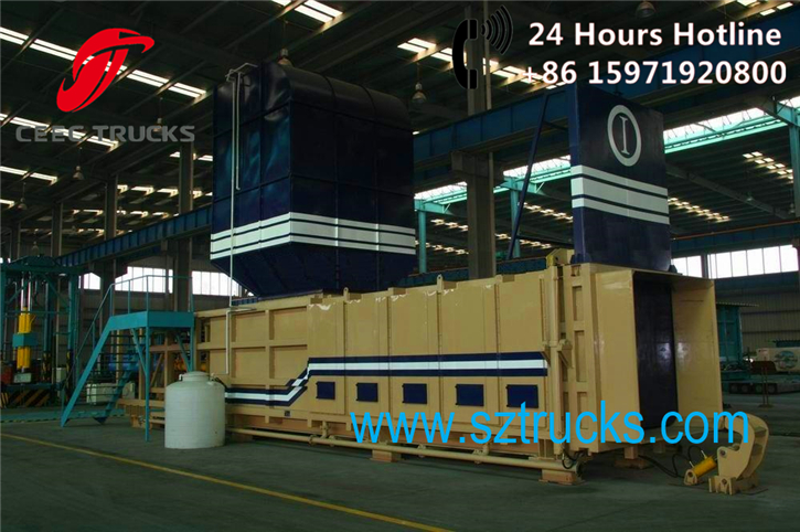 Horizontal Level Preloaded Garbage Transfer Stations Factory sale