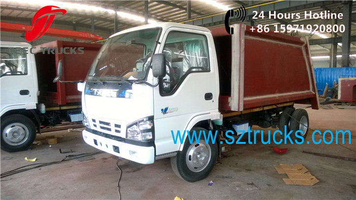 Factory produce newly design mini 4CBM garbage compactor trucks for sale