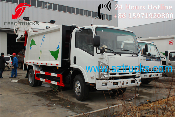 Good 8CBM refuse compactor trucks for export to Ecuador