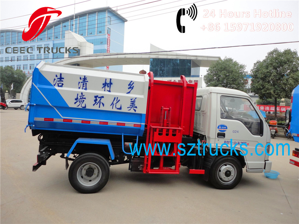 Best 2015 newly produced 2Tons mini side loader garbage trucks