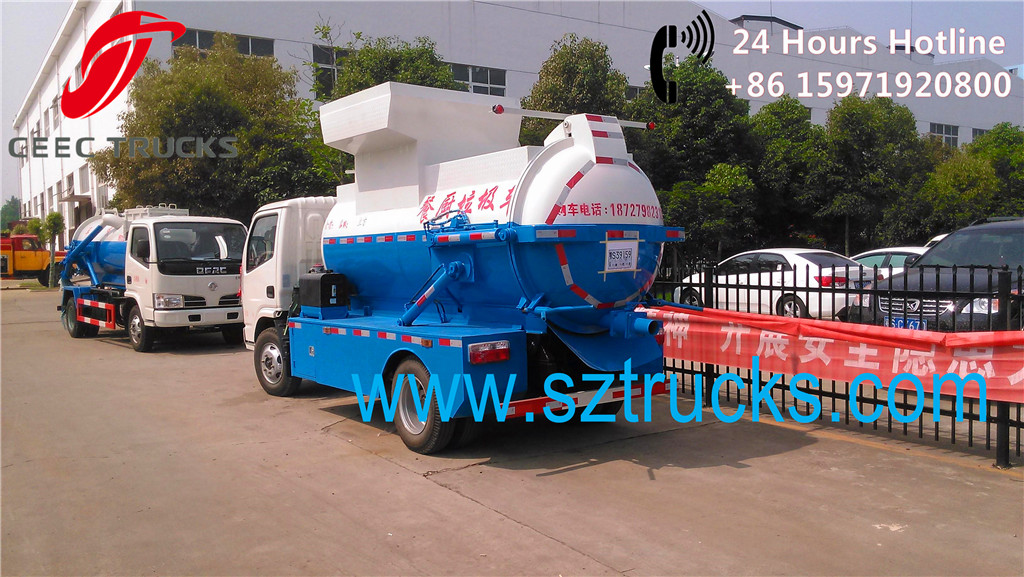 Reliable quality 5-6CBM kitchen gabrage collection trucks