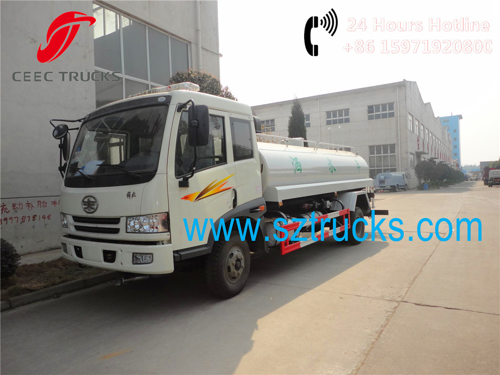 FAW 8000Liters water sprinkler tanker trucks for sale